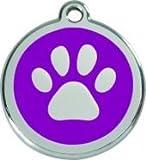 Hundemarke RedDingo Pfote lila L 40mm