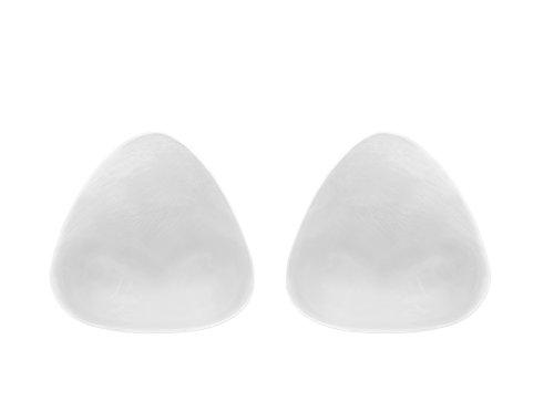 SodaCoda Silikon BH Einlagen 120g/Paar - Kleine Weiche Dreieckige Push-Up Brust-Einlagen für Badeanzug und Bikini - Transparent