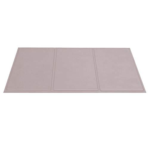 Wenosda Haustier-Kühlmatte, Hunde / Katzen Kalt-Pad für Boden, Autositze, Haustier-Betten & Zwinger (grau, 90x50cm / 35.4x19.7IN)