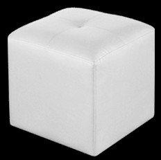 Adec - Pouf polipiel, medidas 35 x 35 cm, color blanco