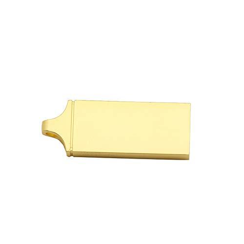 KEYkey Solide Goldene 8 GB USB-Flash-Laufwerke USB-Sticks Portable USB Memory Sticks Jump Drive Metall U Disk Data Storage D1 Typ Goldene -