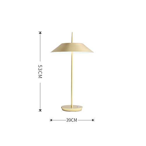 Nordic moderne einfache schwarz weiß gold Eisen Kunst LED Tischlampe Wohnzimmer Schlafzimmer Büro Studie Lesen und Schreiben Lampe, Gold