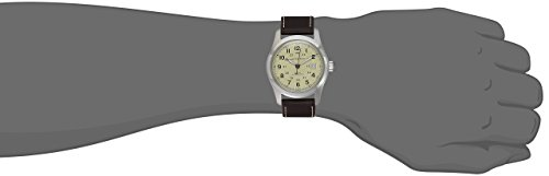 Hamilton Men's H70555523 Khaki Field Stainless Steel Watch with Brown Leather Band
