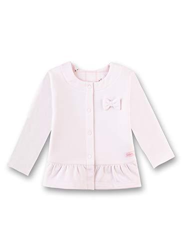 Sanetta Baby-Mädchen Jacket Sweatjacke, Rosa (Hellrosa 3075), 80 (Herstellergröße: 080)
