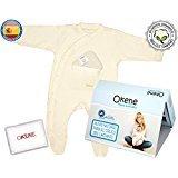 100% organische Anti-Colic Baby Baumwolle Pyjama mit Fuß - enthält Packung Samen / Lavendel und Gel - Größe 6/9 Monate (9 Monaten Lavendel)