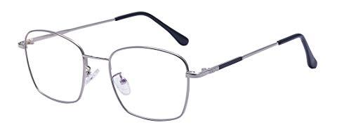 ALWAYSUV Anti Blaulicht Brille Retro Metallgestell Brillenfassung Vintage Brille Dekobrillen