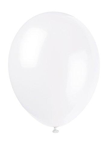 Unique Party - 80002 - Paquet de 10 ballons - Latex - 30 cm - Blanc Lin 0011179800025
