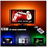 LED TV Hintergrundbeleuchtung für 32-60 Zoll TV Bias Beleuchtung - USB Powered LED-Leiste mit Fernbedienung hinter TV-Beleuchtung - 16 Farben, Sync ON / OFF mit TV