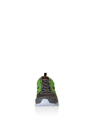Reebok Run Supreme 2.0, Scarpe da Corsa Uomo Grigio / Verde / Bianco / Nero (Alloy/Solar Green/Bright Green/Wht/Blk)