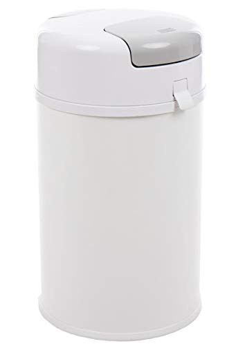 Fillikid Windeleimer X-Large Exklusiv | Windeltwister geruchlos | extra gross 35 L | Metall weiß mit Abdichtung | für normale Müllbeutel | keine teuren Nachfüllkassetten