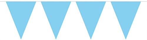 Wimpelkette/Party-Dekorationen, 10Meter, mit 15Fähnchen, Blau