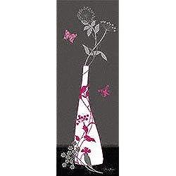 Eurographics DMO1005 Diane Moore Pink Summer Feeling - Lámina decorativa (25 x 70 cm), diseño de jarrón con flores