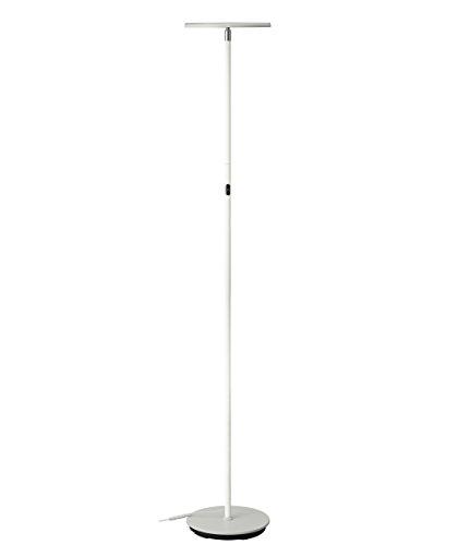 PHIVE LED Stehlampe, Dimmbar Super Helle 30 Watt 3000 Lumen LED Stehleuchte (Einstellbare Lampenkopfrichtung, 3000 Kelvin Warmweissem Licht, Berührungsempfindliche 3 Helligkeitsstufen, Moderne Standleuchte für Wohnzimmer / Schlafzimmer) Weiß