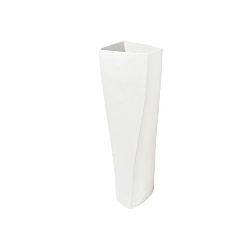 ASA Selection Twist Vase weiss 50cm (halbhohe Bodenvase)