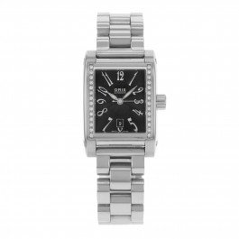 Cultura miles Oris rettangolare diamanti 56175364968 MB automatic in acciaio inox da donna orologio