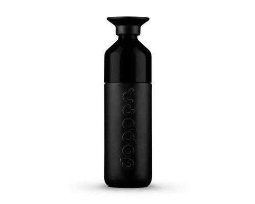 dopper Insulated - Isolierte Trinkflasche aus Edelstahl | Thermosflasche 580 ml |Isolierflasche mit nachhaltigen Statement - Take That, Einwegplastik! Mit Tasse - Blazing Black