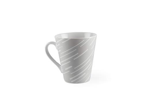 Excelsa Rain Tasse Mug, Porcelaine, Gris