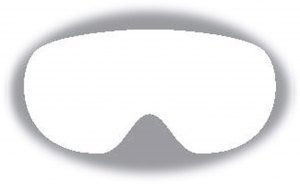 ALPINA Ersatzscheibe für Skibrille (Scheibennummer: 134 = Artikel A7213955 Scheibe: MULTIMIRROR Gold für Modell Granby)