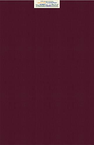 15Dark Burgund Leinen Papier 80# Abdeckung Blatt-30,5x 45,7cm (30,5x 45,7cm) large poster Größe-80Lb/Pfund Karte Gewicht-Feine Leinen Texturierte Finish-Deep Dye Qualität Karton (Druckbare Farbe Blätter)