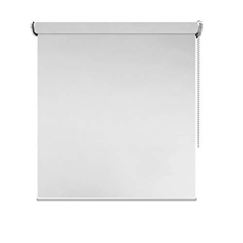 Estores enrollables Cortinas Impermeables del Rodillo de la Oscuridad del apagón de 80cm / 100cm / 120cm / 140cm para la Ventana Interior del Cuarto de baño, poliéster Gris (Tamaño : 100×150cm)