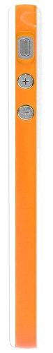 Horny Protectors Bumper avec boutons en métal pour Apple iPhone 4(non 4S) orange/blanc