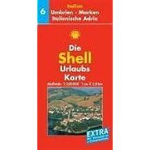 Umbrien, Marken, Italienische Adria: 1:200000 (Shell Urlaubskarte Italien)