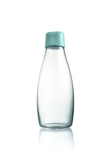 Retap Borosilikatglas Wasser Flasche, Mint blau, 0,5Liter/mittel (Glas Retap Trinkflasche)