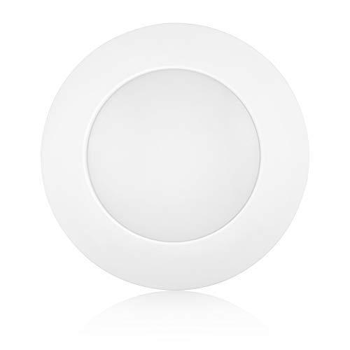 Worbest 19,1 cm dimmbare LED-Plattenleuchte, Deckenleuchte, Energy Star und UL gelistet, 13 W (entspricht 80 W), 800 lm, CRI90, 5000 K, LED Low Profile Einbau- und Aufbauleuchte Modern 7.5IN/WH -
