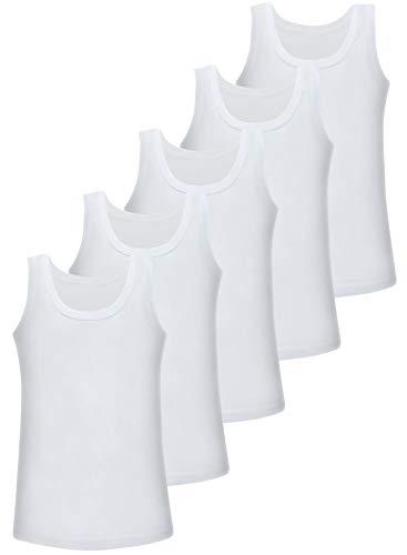 5er Pack Mädchen Unterhemd 100% Baumwolle Tank Top (128-134 (8-9Jahre)) - Mädchen Unterhemd