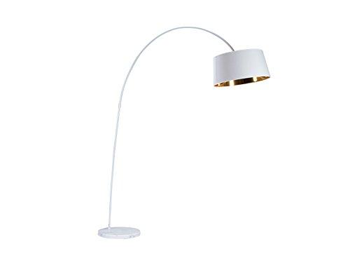 Massivum 20021518 Bogenlampe, Metall, weiß