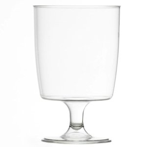 One piece disposable plastic wine glasses (200ml) - pack of 50 Test