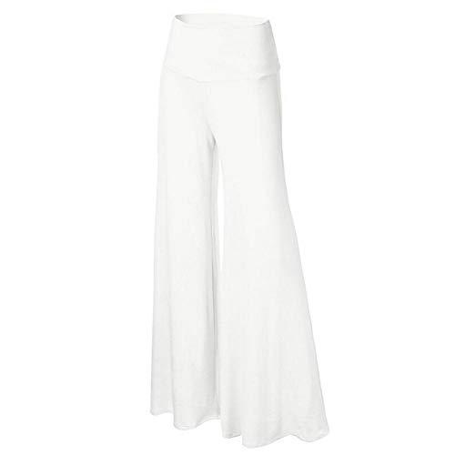 Colinsa Damen Palettenhose mit weitem Bein - Damenhosen Ganzkörper-Trikot Smart Casual Work Office Flared - Vintage Culottes-Hose mit elastischer Taille Schwarz