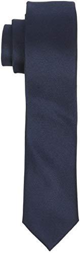 SELECTED HOMME Herren Krawatte SLHPLAIN TIE 5CM NOOS B, Blau Dark Sapphire, One Size