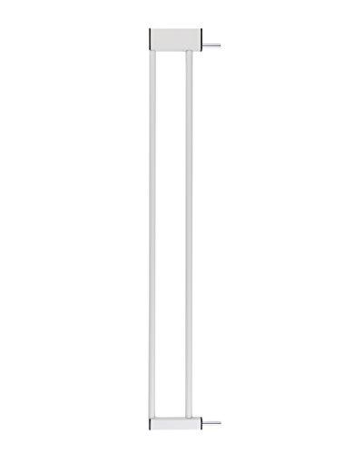 ♥ BOMI Zubehör für Schutzgitter aus Metall | Größen: 10-70 cm | Stiegengitter Verlängerung | Kindersicherung in Weiß | Tür- & Treppenschutzgitter für Babys, Kleinkinder & Tiere | 10 cm Verbreiterung
