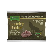 COUNTRY HUNTER Frozen Food Rohes Kaninchen 1 Kg Barf Hunde (Cranberry-und Traubenkernextrakt)