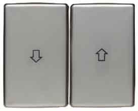 Preisvergleich Produktbild Hager ARSYS–Doppel Taste mit Pfeilen Metall Edelstahl