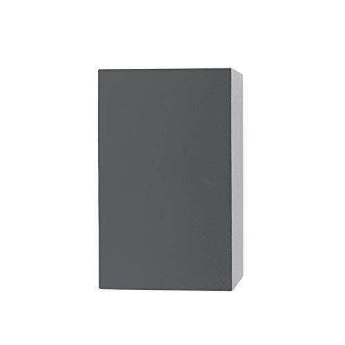 QAZQA Landhaus / Vintage / Rustikal / Modern / Bad / Badezimmer Außen Wandleuchte Baleno II dunkelgrau Aluminium Würfel / Rechteckig / LED geeignet GU10 Max. 2 x 35 Watt / 2 flammig - 5