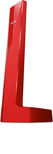 Philips Linea V M3501R - Teléfono inalámbrico diseño con Manos Libres, Bloqueo de Llamadas, Sonido Puro y Claro, Rojo