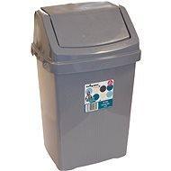 Wham High Grade Plastic Mocha Flip Top Waste Rubbish Kitchen Bin Dustbin (Medium - 15 Litre)