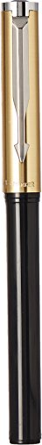 Parker-Beta-Premium-Chrome-Trim-Ball-Pen-with-New-Systemark-Refill-Gold
