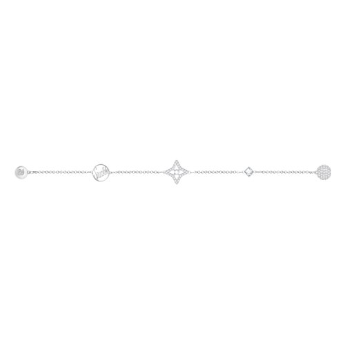 Imagen de swarovski star remix collection, blanco, baño de rodio alternativa