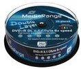 MediaRange DVD+R DL 8,5 GB DVD-Rohlinge, 8fach, 25 Stück, bedruckbar