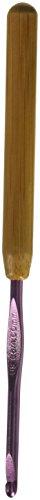 Susan Bates Bamboo Handle/Silvalume Head Crochet Hook 5.5