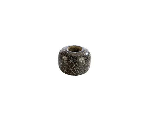 eliga Aufgussstein mit 1 Bohrung, Speckstein schwarz