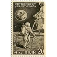Sams Shopping First Man on The Moon Astronaut Space Module Moon Space Shuttle Costume 20 P Indian Stamp