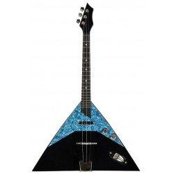Electric Prim Balalaika Prima Sopran 3Saiten Gitarre 2Töne Made in Europe Top Massivholz Fichte Körper Ahorn Massivholz Tastatur Akazienholz Griff Buche Maßstab 440mm