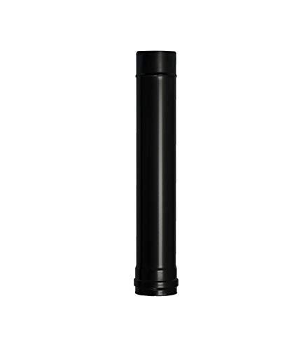 Wolfpack 22013020 Ofenrohr für Holzöfen, emailliert, Durchmesser 80mm, Länge 50cm