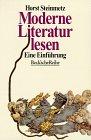 Moderne Literatur lesen: Eine Einführung - Horst Steinmetz