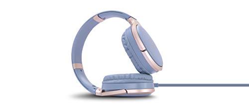 Zebronics Zeb-Elegance 3.5mm Jack Headphone with Adjustable Headband (Blue)