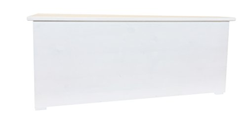 Amico legno cli120b cassapanca con cerniera interna 120, legno, bianco, 124x44x44 cm